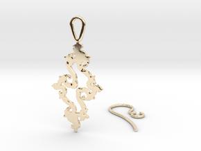 Julia Set Earring in 14k Gold Plated Brass