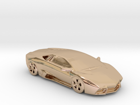 lamborghini gold 100mm in 14k Rose Gold Plated Brass