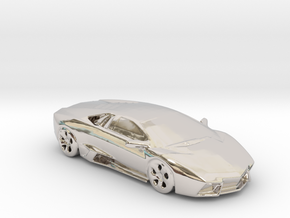 lamborghini gold 100mm in Rhodium Plated Brass