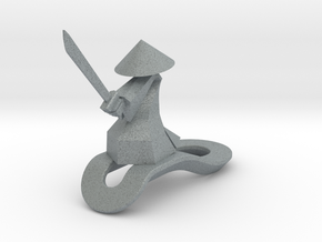 Striking Samurai - Key Chain in Polished Metallic Plastic