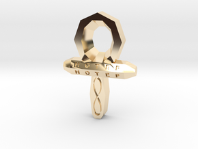 Small Ankh in 14K Yellow Gold