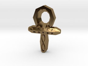 Small Ankh in Polished Bronze
