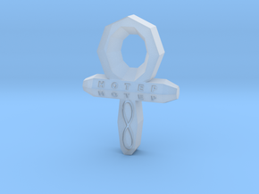 Small Ankh in Smoothest Fine Detail Plastic