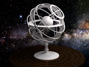 Armillary Sphere in White Strong & Flexible