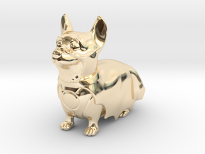 The Corgi Knight in 14K Yellow Gold