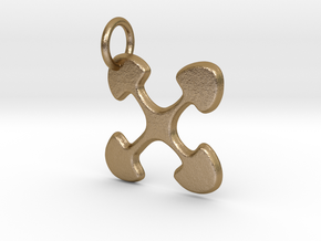 Ujima small charm in Polished Gold Steel