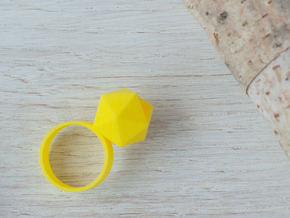 Icosahedron Planter Ring in Yellow Processed Versatile Plastic: 6 / 51.5