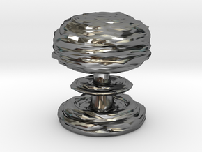 Mushroom Cloud in Fine Detail Polished Silver