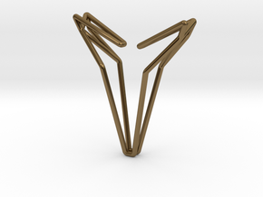 YOUNIVERSAL 8, Pendant in Polished Bronze