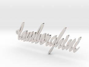 Pendant lamborghini gold & precious materials in Platinum