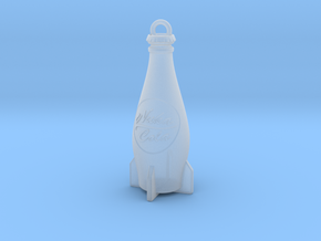 Nuka Cola Bottle Keychain in Smooth Fine Detail Plastic