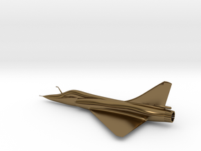 Dassault Mirage 2000 gold 100mm in Polished Bronze