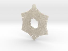 Cesaro Snowflake - 2 in White Acrylic