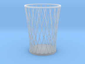 Lattice Pencil Holder in Smooth Fine Detail Plastic