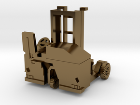 H0 scale: Forklift, Vorklift, Kooiaap, Gabelstaple in Polished Bronze