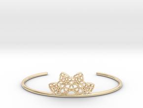 Half Mandala Cuff - small in 14k Gold Plated Brass