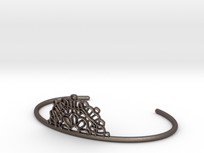 Half Lace Cuff - small in Polished Bronzed Silver Steel