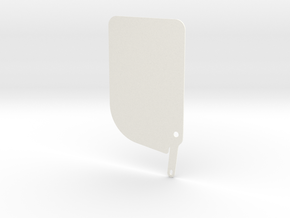 Right Side Piece in White Processed Versatile Plastic