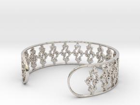 Julia Set Bracelet 7in (18cm) in Rhodium Plated Brass
