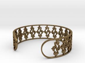 Julia Set Bracelet 7in (18cm) in Polished Bronze