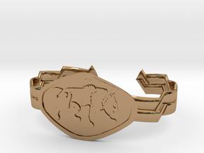 "2.5"" Wolf Bracelet in Polished Brass"