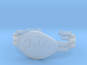 "2.5"" Wolf Bracelet in Smooth Fine Detail Plastic"