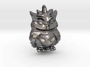 Little OWL Pendant Sovacka in Polished Nickel Steel