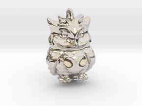 Little OWL Pendant Sovacka in Rhodium Plated Brass