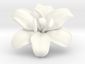 Lily Flower 1 - M in White Processed Versatile Plastic