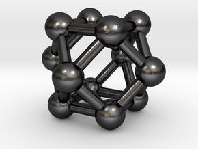 0282 Cuboctahedron V&E (a=1cm) #003 in Polished and Bronzed Black Steel