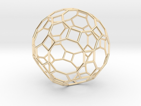 0283 Great Rhombicosidodecahedron E (a=1cm) #001 in 14K Yellow Gold