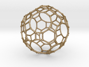 0284 Great Rhombicosidodecahedron V&E (a=1cm) #002 in Polished Gold Steel