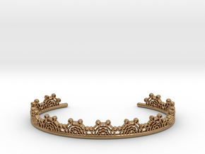 Lace Wrap Cuff - small in Polished Brass