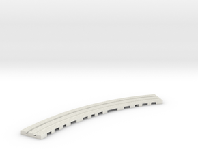 P-9stx-long-9in-curve-1a in White Natural Versatile Plastic