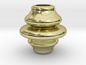3.58inch Rounded Finial in 18k Gold Plated
