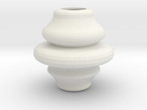 3.58inch Rounded Finial in White Natural Versatile Plastic