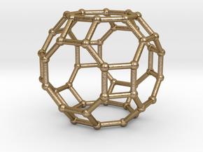0287 Great Rhombicuboctahedron V&E (a=1cm) #002 in Polished Gold Steel