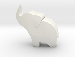 the little elephant in the room in White Natural Versatile Plastic