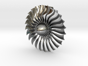 Turbine Alliance 80mm in Polished Silver