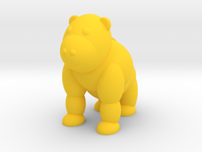 Gorilla (Nikoss'Animals) in Yellow Processed Versatile Plastic