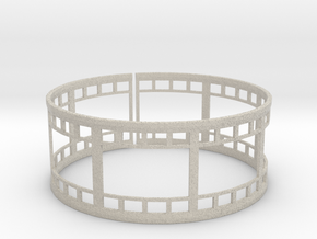 Film Strip Ring in Natural Sandstone