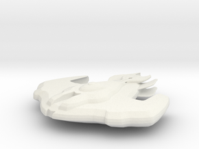 Cardassian Battleship in White Natural Versatile Plastic