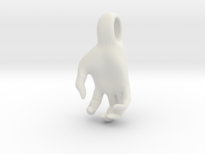 Luke's Hand (pendant) in White Natural Versatile Plastic