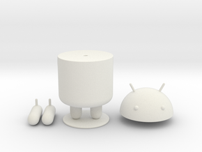 Android  in White Natural Versatile Plastic