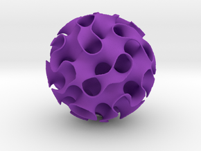 Implicit surface ornament in Purple Processed Versatile Plastic
