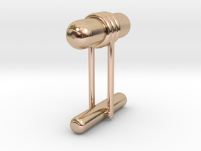 Cufflink Style 11 in 14k Rose Gold Plated Brass