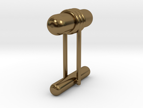 Cufflink Style 11 in Polished Bronze
