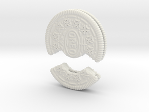 Flash Memory Stick Oreo Cookie Case in White Natural Versatile Plastic