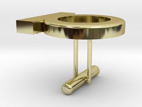 Cufflink Special 1 in 18k Gold Plated Brass