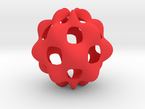 Oscillating spherical surface in Red Processed Versatile Plastic